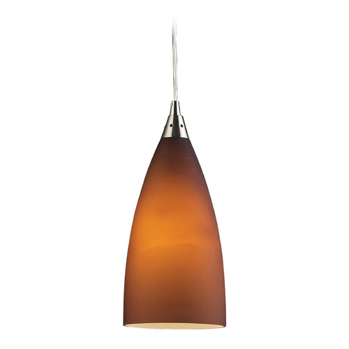 Elk Lighting Elk Lighting Vesta Satin Nickel Mini-Pendant Light with Bowl / Dome Shade 2582/1-LA