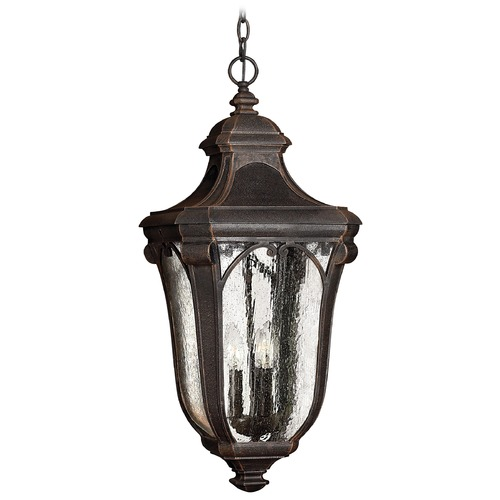 Hinkley Lighting Outdoor Hanging Light with Clear Glass in Mocha Finish 1312MO