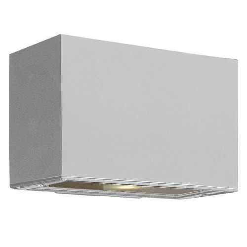 Hinkley Lighting Modern Outdoor Wall Light with Etched in Titanium Finish 1645TT