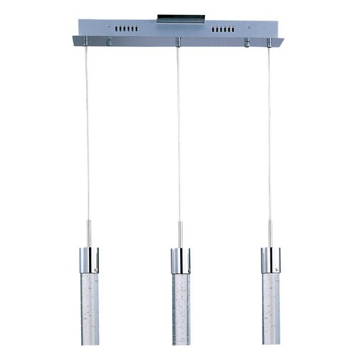 ET2 Lighting Fizz Iv Polished Chrome LED Multi-Light Pendant with Cylindrical Shade E22773-91PC