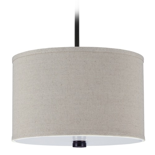Sea Gull Lighting Sea Gull Lighting Dayna Shade Pendants Burnt Sienna Pendant Light with Drum Shade 65264-710