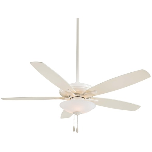 Minka Aire Minka Aire Fans Mojo Bone White Ceiling Fan with Light F522-BWH