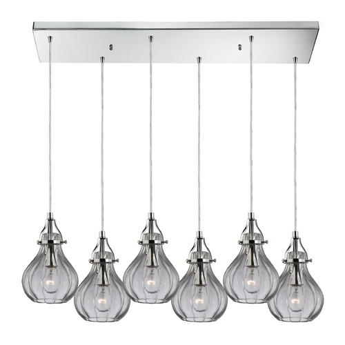 Elk Lighting Multi-Light Pendant Light with Clear Glass and 6-Lights 46014/6RC