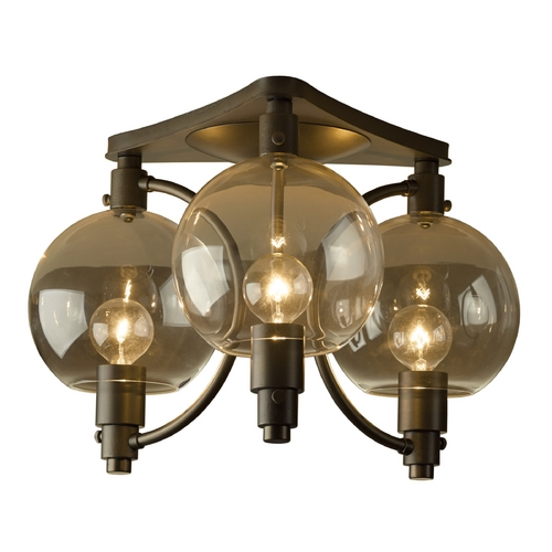 Hubbardton Forge Lighting Hubbardton Forge Lighting Pluto Dark Smoke Semi-Flushmount Light 128703-07-ZM436