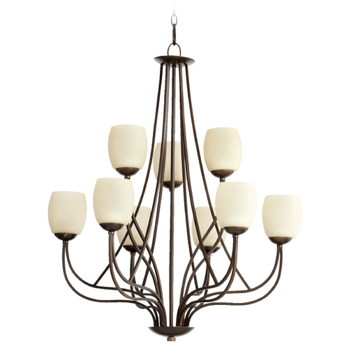 Quorum Lighting Quorum Lighting Willingham Oiled Bronze Chandelier 6012-9-86
