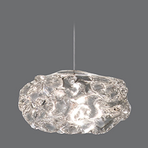 Fine Art Lamps Fine Art Lamps Natural Inspirations Gold-Toned Silver Leaf Mini-Pendant Light 851840-21ST