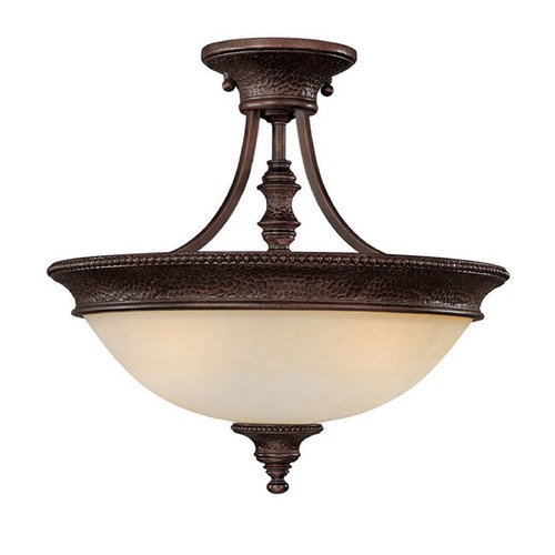 Capital Lighting Capital Lighting Hill House Burnished Bronze Semi-Flushmount Light 3563BB