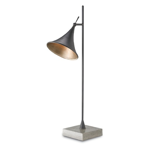 Currey and Company Lighting Currey and Company Lighting Graham Blacksmith / Silver Leaf / Polished Concrete Task / Reading Lamp 6413