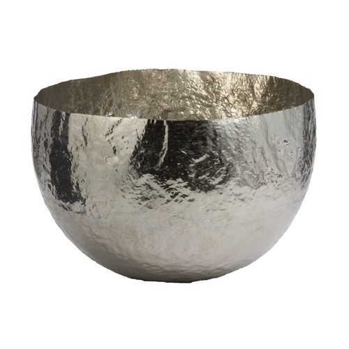 Dimond Lighting Hammered Nickel-Plated Brass Dish - Large 346018