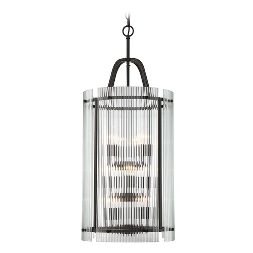 Savoy House Savoy House Lighting Afton English Bronze Pendant Light with Cylindrical Shade 3-3088-9-13