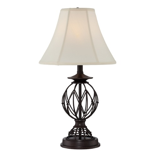 Lite Source Lighting Lite Source Berne Antique Bronze Table Lamp with Bell Shade C41355