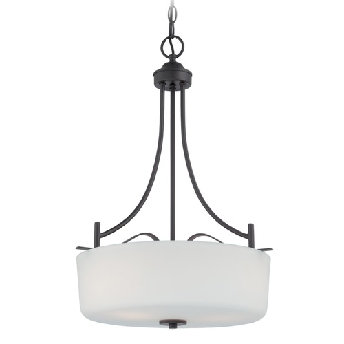 Designers Fountain Lighting Designers Fountain Cassina Biscayne Bronze Pendant Light with Drum Shade 86931-BBR