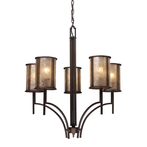 Elk Lighting Five-Light Chandelier with Mica Shades 15035/5