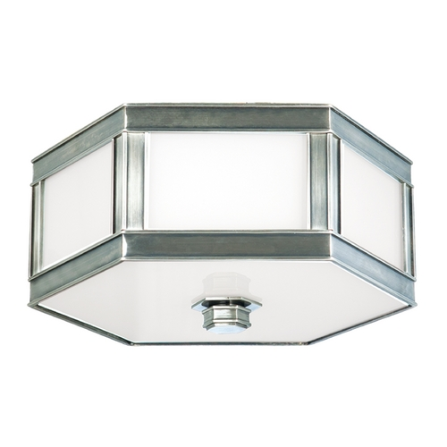 Hudson Valley Lighting Flushmount Light with White Glass in Historic Nickel Finish 6410-HN