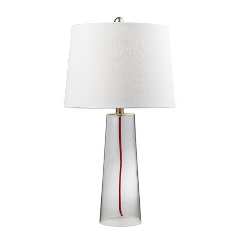 Dimond Lighting Table Lamp with Clear Glass and Barrel Shade D138