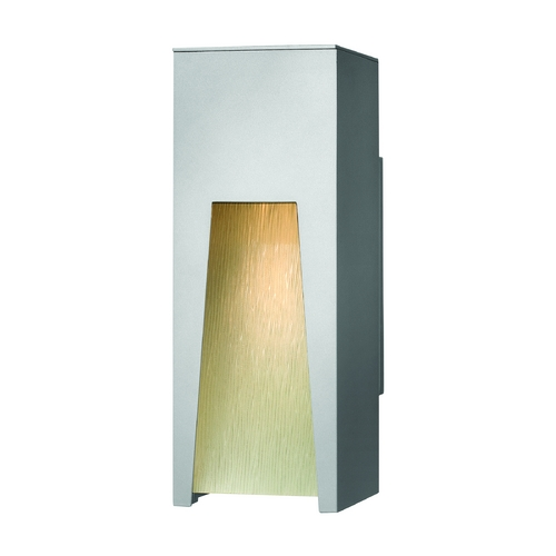 Hinkley Lighting Modern Outdoor Wall Light with Clear Glass in Titanium Finish 1760TT