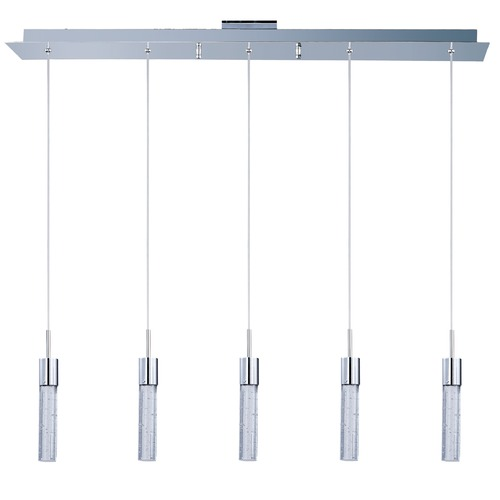 ET2 Lighting Fizz Iv Polished Chrome LED Multi-Light Pendant with Cylindrical Shade E22774-91PC