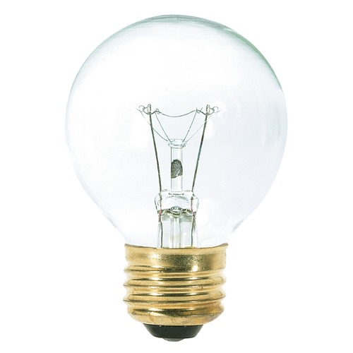 Satco Lighting Incandescent Globe Light Bulb Medium Base 120V by Satco S3888