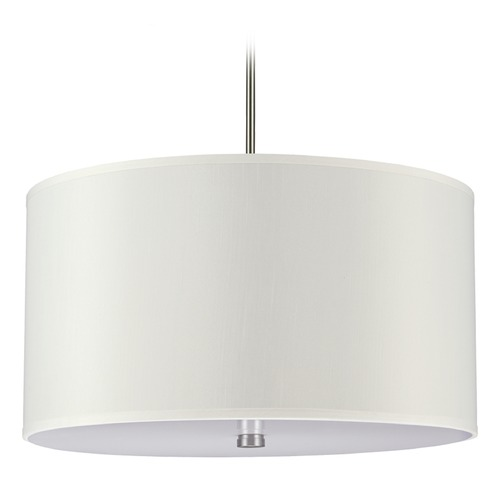 Sea Gull Lighting Sea Gull Lighting Dayna Shade Pendants Brushed Nickel Pendant Light with Drum Shade 65262BLE-962