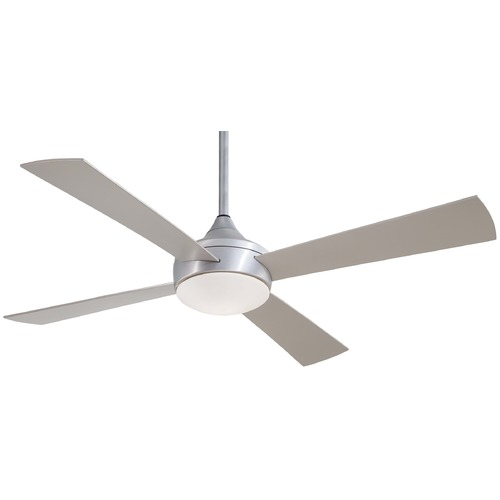 Minka Aire Minka Aire Fans Aluma Wet Brushed Aluminum Ceiling Fan with Light F523-ABD