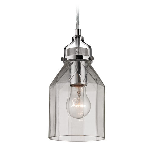 Elk Lighting Mini-Pendant Light with Clear Glass 46019/1