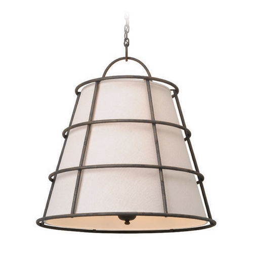Troy Lighting Troy Lighting Habitat Liberty Rust Pendant Light with Empire Shade F3906