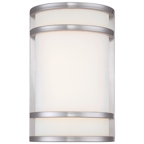 Minka Lavery Minka Lighting Bay View Brushed Stainless Steel LED Outdoor Wall Light 9802-144-L