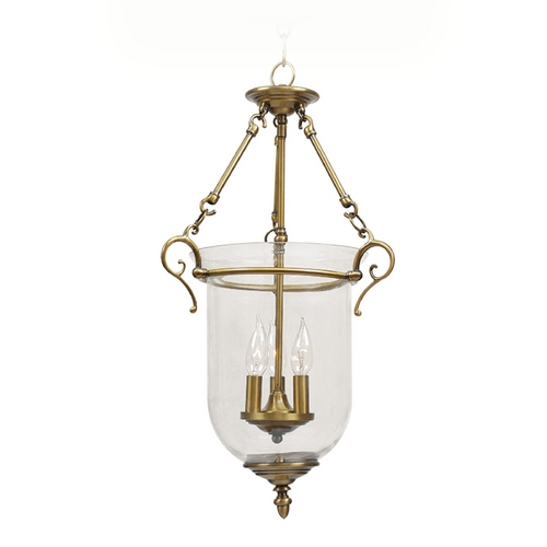 Livex Lighting Livex Lighting Legacy Antique Brass Pendant Light 5022-01
