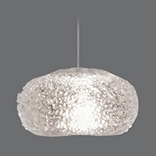 Fine Art Lamps Fine Art Lamps Natural Inspirations Gold-Toned Silver Leaf Mini-Pendant Light with Oblong Shade 851840-22ST