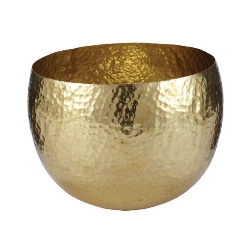 Dimond Lighting Gold Hammered Brass Dish - Small 346022