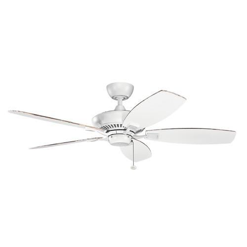 Kichler Lighting Kichler Lighting Canfield Matte White Ceiling Fan Without Light 300117MWH
