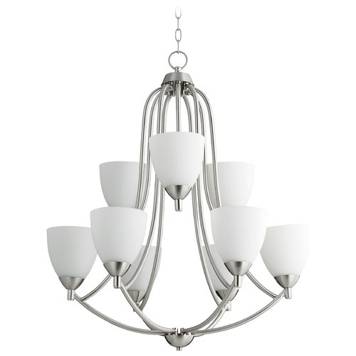 Quorum Lighting Quorum Lighting Barkley Satin Nickel Chandelier 6069-9-65