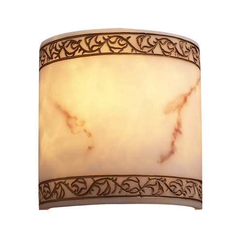 PLC Lighting Modern Sconce Wall Light with Alabaster Glass in Faux Alabaster Finish 1135