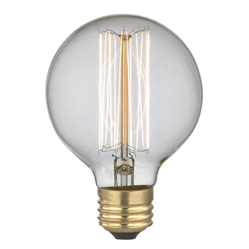 Design Classics Lighting Vintage Edison G25 Globe Light Bulb - 40-Watts 40G25  FILAMENT