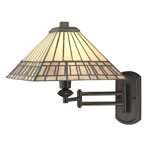 Design Classics Lighting Mission Tiffany Bronze Adjustable Swing Arm Wall Sconce 1706 TB