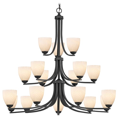 Design Classics Lighting Bronze Chandelier 5863-220 GL1020MB