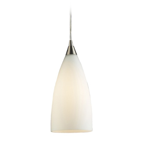 Elk Lighting Elk Lighting Vesta Satin Nickel LED Mini-Pendant Light with Bowl / Dome Shade 2580/1-LED