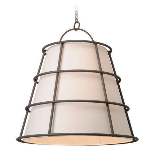 Troy Lighting Troy Lighting Habitat Liberty Rust Pendant Light with Empire Shade F3908