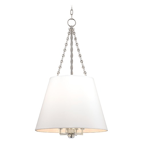 Hudson Valley Lighting Hudson Valley Lighting Burdett Polished Nickel Pendant Light with Empire Shade 6422-PN
