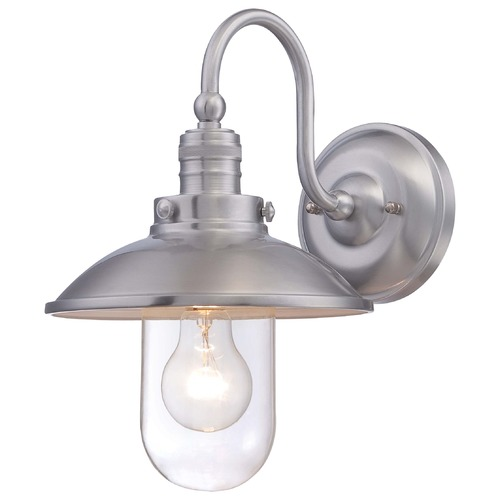 Minka Lavery Minka Downtown Edison Brushed Aluminum Outdoor Wall Light 71163-A144