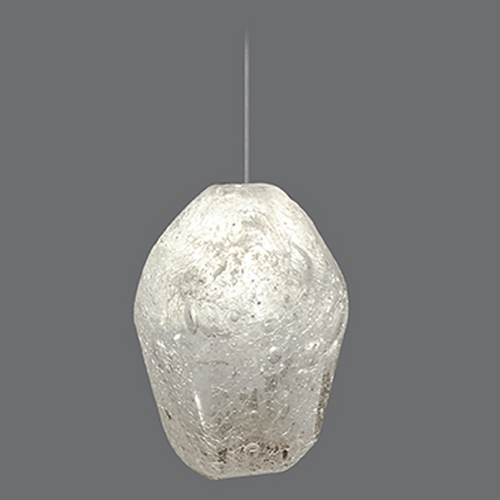 Fine Art Lamps Fine Art Lamps Natural Inspirations Gold-Toned Silver Leaf Mini-Pendant Light 851840-23ST