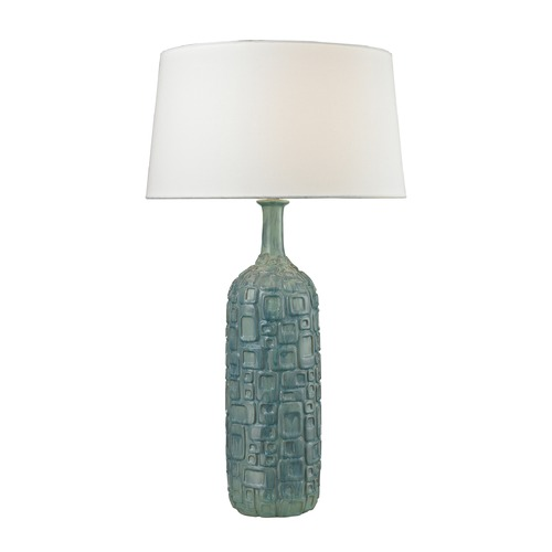 Dimond Lighting Dimond Lighting Blue, White Wash Glaze Table Lamp with Empire Shade D2612B