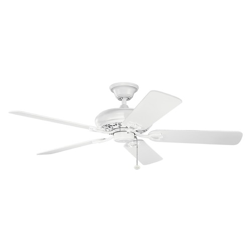 Kichler Lighting Kichler Lighting Bentzen Matte White Ceiling Fan Without Light 300118MWH