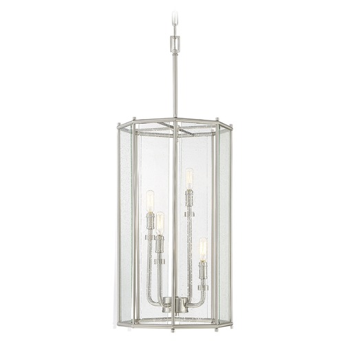 Savoy House Savoy House Lighting Damascus Satin Nickel Pendant Light with Octagon Shade 3-653-4-SN