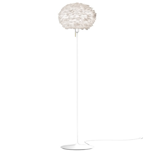 UMAGE White Floor Lamp with White Abstract Feather Shade 3002_4037