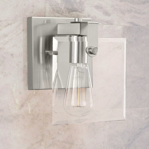 Progress Lighting Progress Lighting Glayse Brushed Nickel Sconce P300105-009