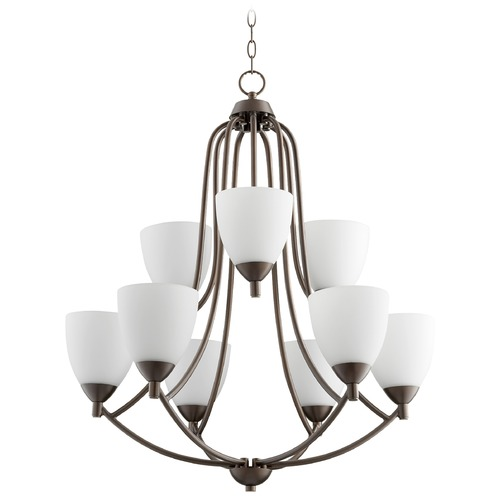 Quorum Lighting Quorum Lighting Barkley Oiled Bronze Chandelier 6069-9-86