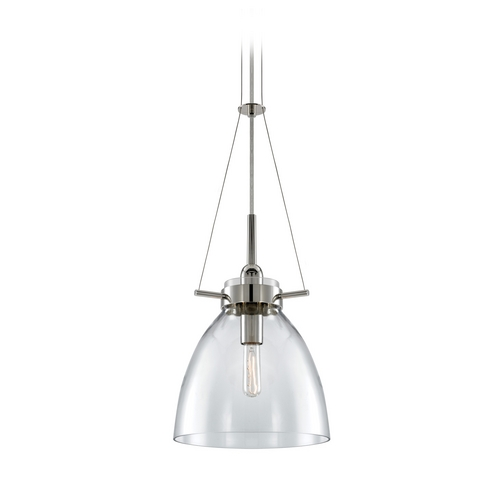 Sonneman Lighting Pendant Light with Clear Glass in Polished Nickel Finish 3294.35C