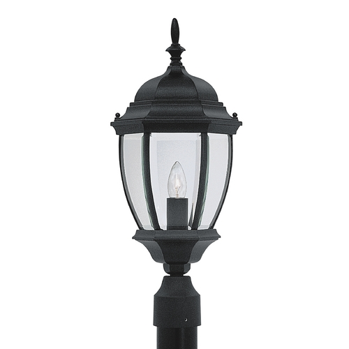 Designers Fountain Lighting Post Light with Clear Glass in Black Finish 2436-BK