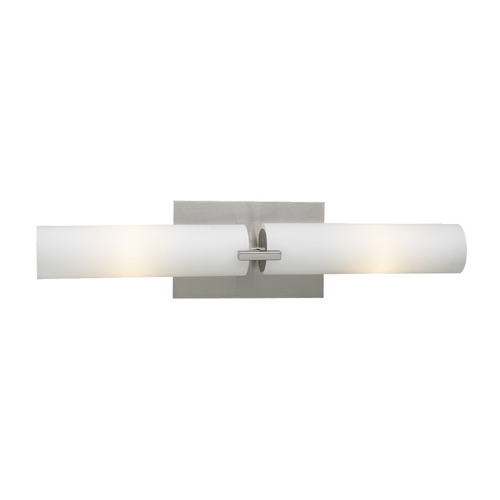 PLC Lighting Modern Bathroom Light with White Glass in Oil Rubbed Bronze Finish 918/CFL ORB